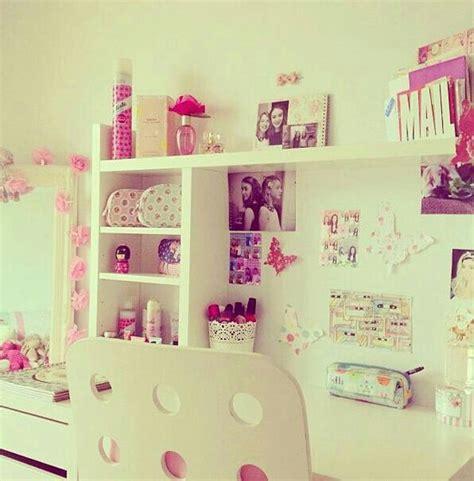 girly cute desk  desk areas  pinterest