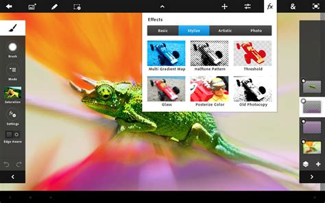 adobe launches photoshop touch for android tablets eurodroid - Photoshop Android