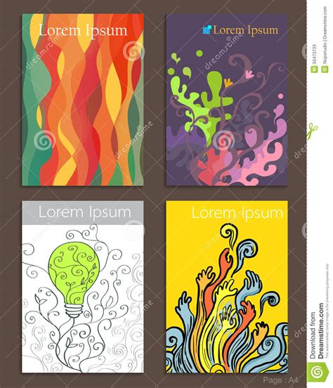 design art brochure set of brochure design abstract art stock vector