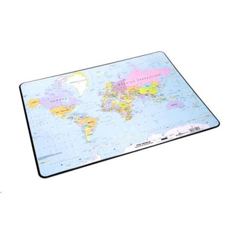 World Desk Mat by Durable Desk Mat World Map 400x530mm 7211 Db7211