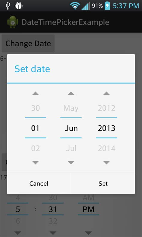 android date picker android development tutorial for beginners