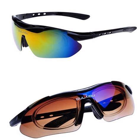 Kacamata Sepeda Lensa Polariz 2 Oulaiou Kacamata Sepeda Dengan 5 Lensa Myopia Black