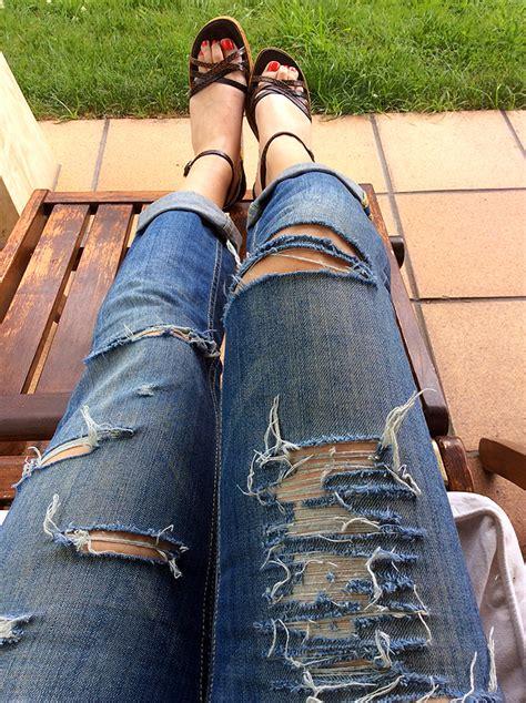cortar pantalones como cortar pantalones vaqueros largos