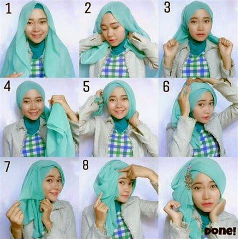 Cara Memakai Jilbab Segi Empat Ala April cara memakai kerudung segi tiga terbaru untuk til cantik islami 2017
