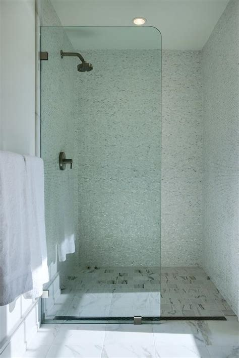 square marble staggered shower floor tiles design ideas