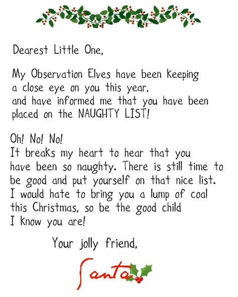printable santa naughty letter crafty confessions printable naughty and nice letters