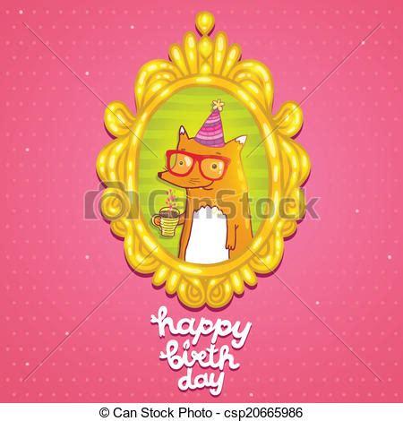 imagenes hipster de feliz cumpleaños vector de feliz cumplea 241 os tarjeta hipster zorro