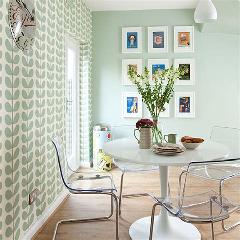 retro dining room pale green modern retro dining area decorating ideal home