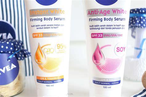 review nivea instant white  anti age white firming body
