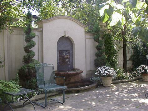 Classic Fountains Classic Patio With Wall Fountain Garden Wall Features