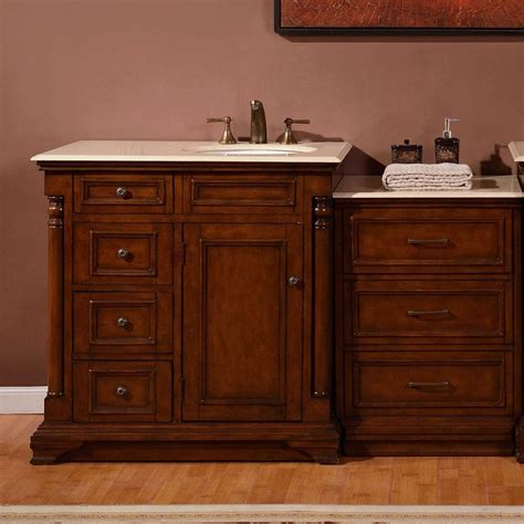 57 Bathroom Vanity 57 Inch Modern Single Bathroom Vanity With A Marfil Marble Counter Top Uvsr0246cm57r