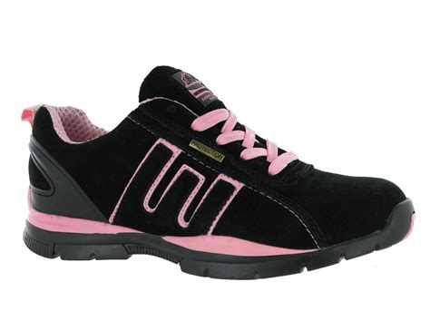 pink steel toe boots womens groundwork black pink steel toe work lace safety