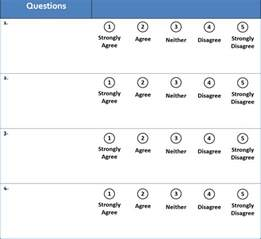 5 point template 29 likert scale templates free premium templates