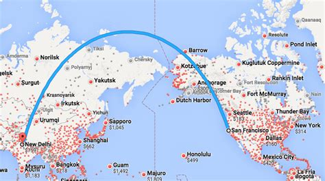 route map from usa to india air india confirms sfo delhi flights chris mcginnis