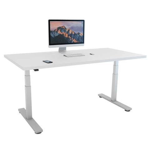 I Desk Solutions by The I Stand Height Adjustable Office Desk I Desk Solutions