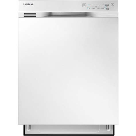 replace white appliances with stainless steel samsung 24 in front control dishwasher in white with