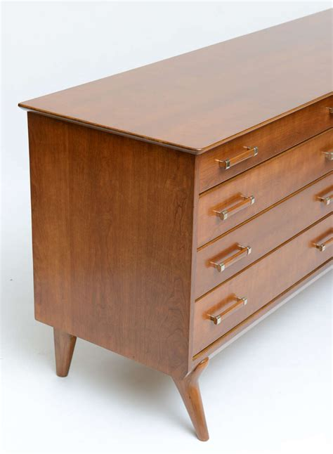 Renzo Rutili 50s Modern Dresser For Johnson Furniture For 50s Modern Furniture