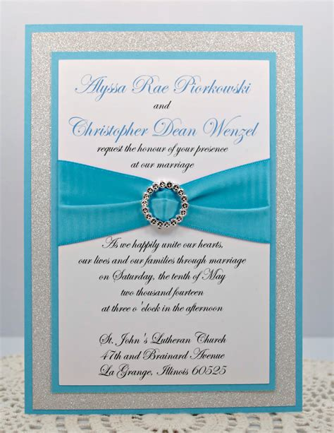 teal wedding invitation kits diy print at home stunning teal silver glitter wedding invitation kit description from
