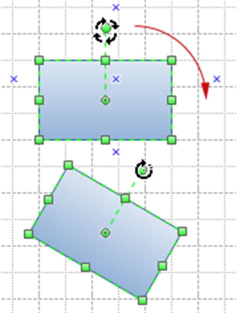 visio flip shape moving rotating resizing and flipping shapes
