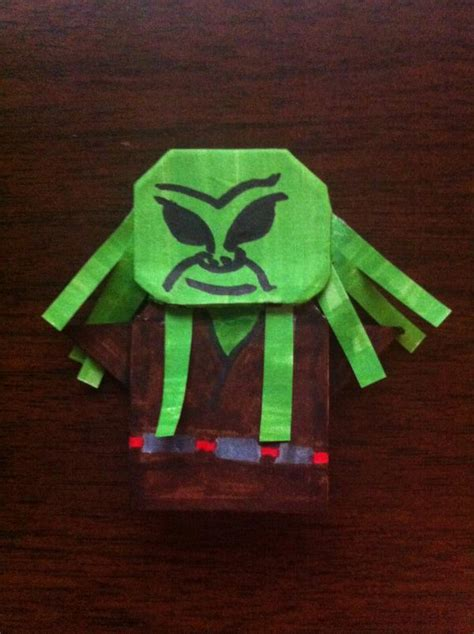 How To Make Origami Kit Fisto - kit fisto and plo koon origami yoda