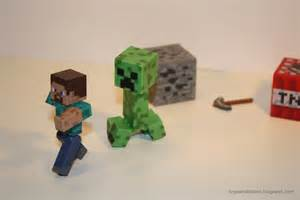 toys and bacon minecraft action figures a review