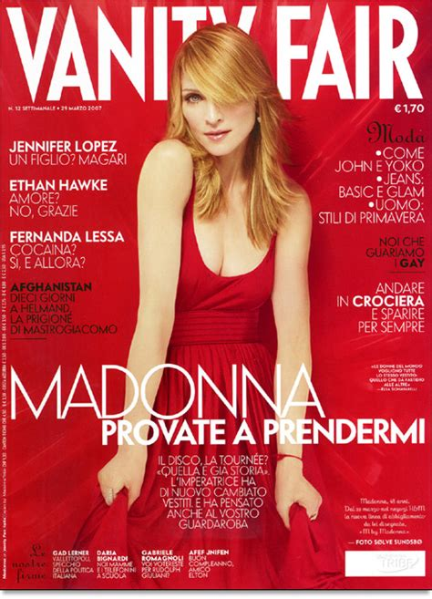 Vanity Fair March 2006 Cover by On The Cover Of Vanity Fair Italia Madonnatribe Decade