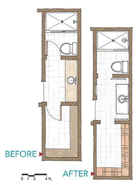 narrow bathroom floor plans i like the narrow bathroom to save space move