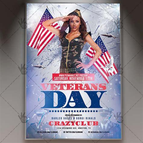 Veterans Day American Flyer Psd Template Psdmarket Happy Veterans Day Template