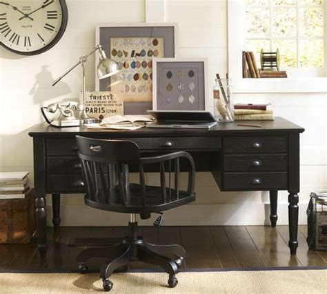 pottery barn architect desk l printer s keyhole desk traditional desks and hutches