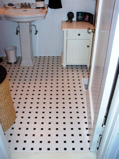 Traditional Bathroom Floor Tile | pinwheel bathroom floor tile traditional bathroom