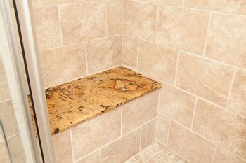installing granite shower bench granite shower seat with travertine tile