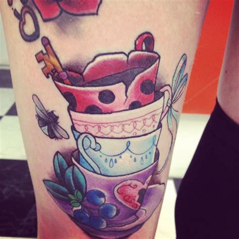 tea cup tattoo stacked teacups inspiration ink