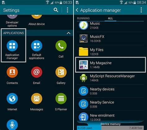 application manager android how to disable the quot my magazine quot feature in samsung galaxy s5 android advices