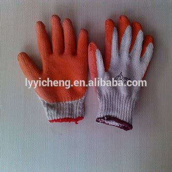 fleece lined rubber work gloves rubber coated cotton glove fleece lined winter work gloves