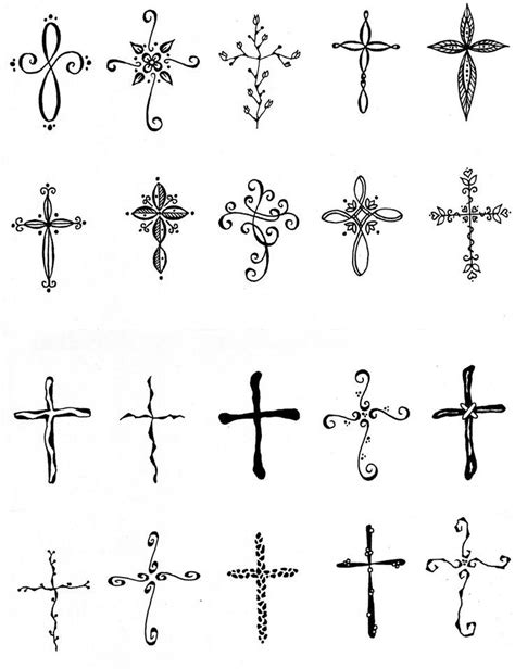 25 best images about feminine cross tattoos on