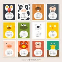 Calendar Animals Calendarios 2015 Infantiles Jumabu