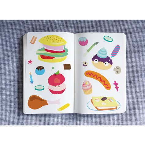 food wall stickers food wall stickers set of 100 multicoloured omy design