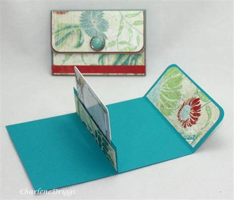 make a card holder purse gift card holder this looks like an easy and