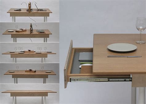 Turn Dining Room Table Into Desk Space Saving Work Desk For Two That Transforms Into Large