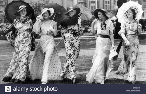 hairstyles for a garden party womens fashions styles at an english garden party in 1935