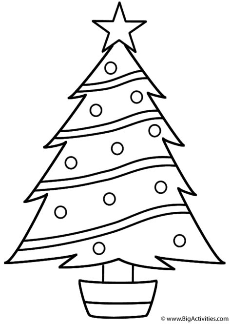 christmas tree coloring page christmas