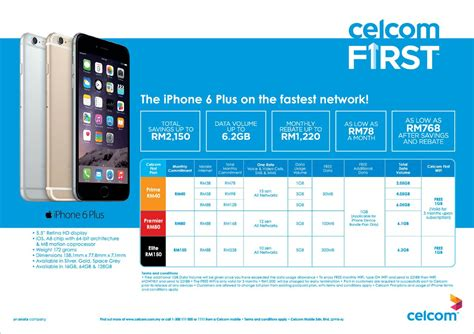 monthly wifi plans celcom iphone 6 iphone 6 plus contract plans insider