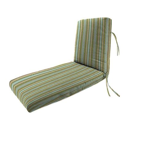 outdoor chaise lounge cushion home decorators collection sunbrella cilantro stripe