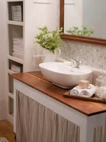 Ideas To Decorate Small Bathroom 20 Small Bathroom Design Ideas Hgtv