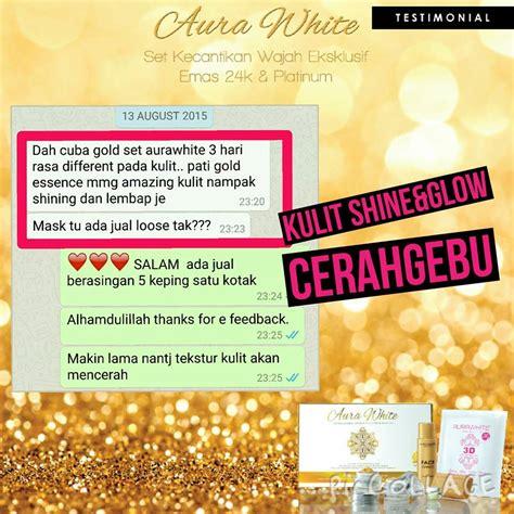 Pemutih Gigi Nucifera aurawhite 24k gold platinum skincare 6 in 1 istimewa dan terbaik untuk anda