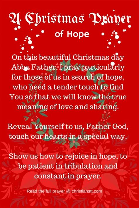christmas invocation prayer a day prayer of christianstt