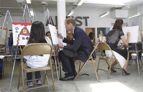 prince william section 8 photos will and kate visit inner city arts cus