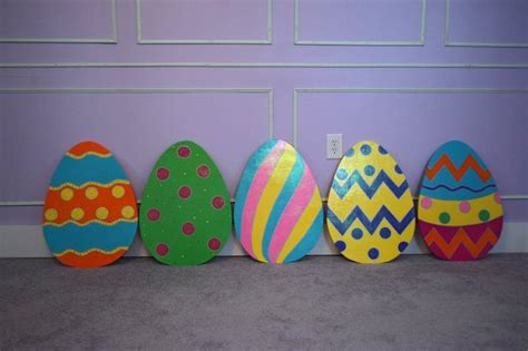 1 large easter egg yard stake easter egg yard art easter egg