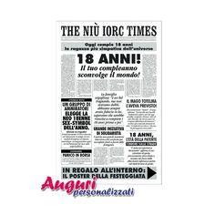 quotidiano interno 18 biglietto giornale di cm 32x49 con applicata all interno