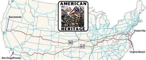 map us highway 50 coast to coast